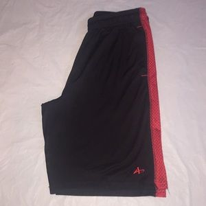 Athletech Red and Black Shorts